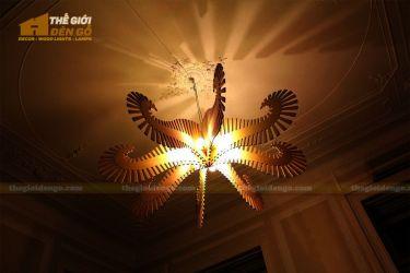 Thế Giới Đèn Gỗ - Đèn gỗ trang trí bạch tuộc