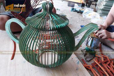 Thế Giới Đèn Gỗ - Đèn gỗ trang trí bình trà