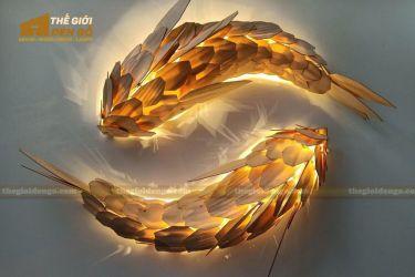 Thế Giới Đèn Gỗ - Đèn gỗ trang trí cá chép nhật
