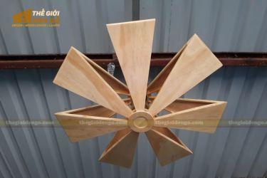 Thế Giới Đèn Gỗ - Đèn gỗ trang trí cánh quạt
