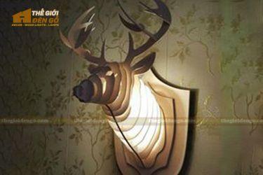 Thế Giới Đèn Gỗ - Đèn gỗ trang trí đầu hươu 1