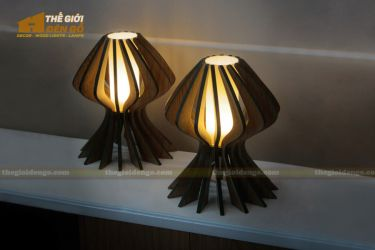 Thế Giới Đèn Gỗ - Đèn gỗ trang trí để bàn TGDG-04