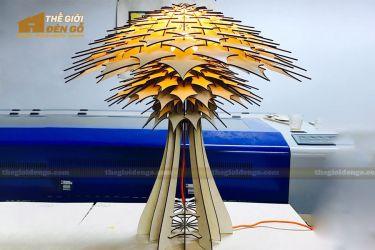 Thế Giới Đèn Gỗ - Đèn gỗ trang trí để bàn DGB031