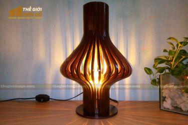 Thế Giới Đèn Gỗ - Đèn gỗ trang trí để bàn DGB016