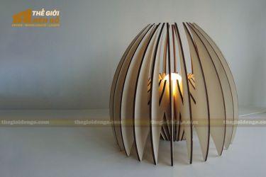 Thế giới đèn gỗ - Đèn gỗ trang trí để bàn DGB020
