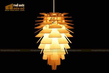 Thế giới đèn gỗ - Đèn gỗ trang trí quả thông