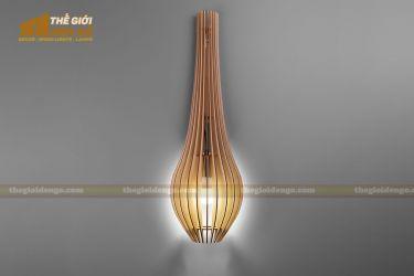 Thế giới đèn gỗ - Đèn gỗ trang trí treo tường DGW039