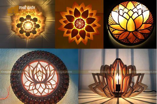 Thế Giới Đèn Gỗ - Những mẫu đèn thờ hoa sen đẹp trang trọng