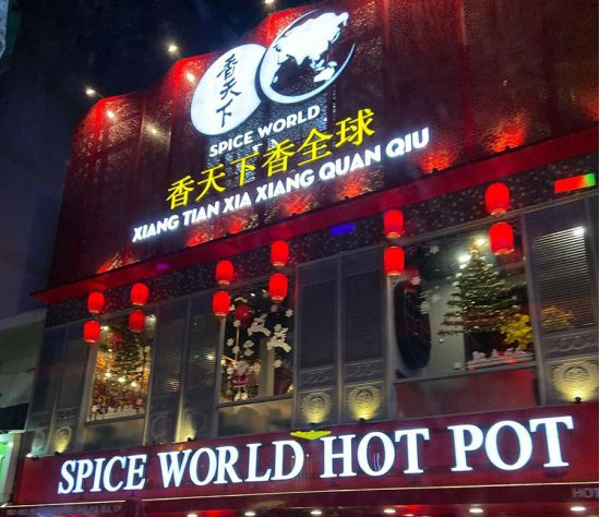 Thế Giới Đèn Gỗ - Dự án nhà hàng Spice World Hot Pot Q5