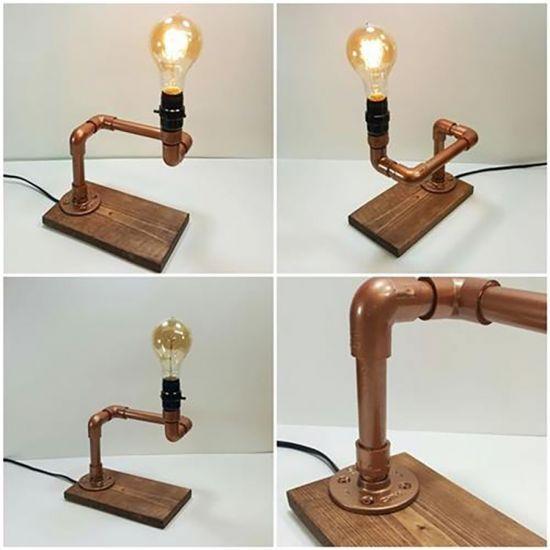 Thế Giới Đèn Gỗ - Hướng dẫn tự làm đèn trang trí bằng ống nước