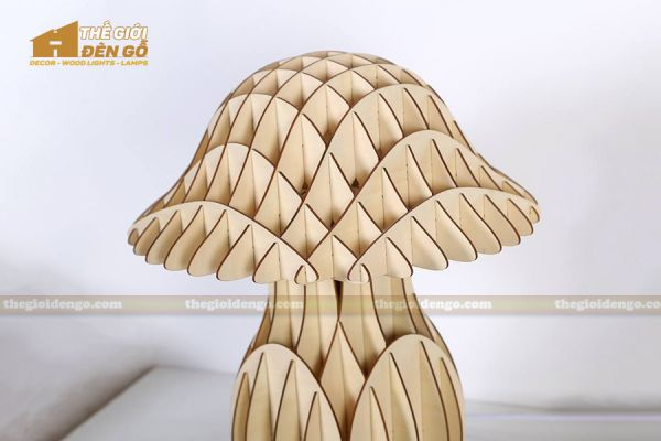Thế giới đèn gỗ - Đèn gỗ trang trí để bàn TGDG-10-2