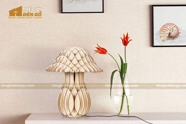 Thế giới đèn gỗ - Đèn gỗ trang trí để bàn TGDG-10-4