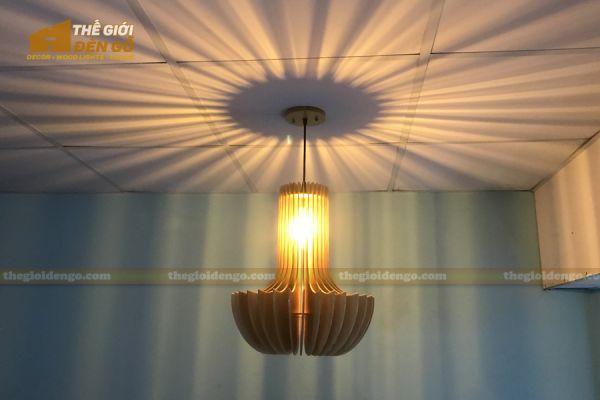 Thế Giới Đèn Gỗ - Đèn gỗ trang trí mỏ neo 1