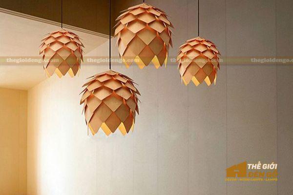 Thế Giới Đèn Gỗ - Đèn gỗ trang trí quả dứa - 10