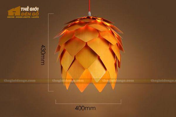 Thế Giới Đèn Gỗ - Đèn gỗ trang trí quả dứa - 2