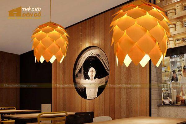 Thế Giới Đèn Gỗ - Đèn gỗ trang trí quả dứa - 5