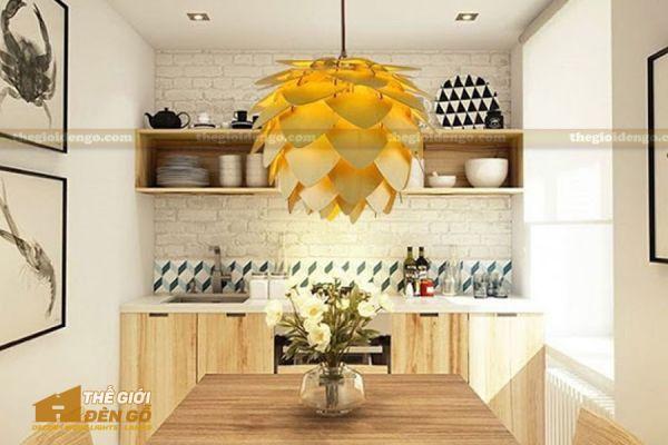 Thế Giới Đèn Gỗ - Đèn gỗ trang trí Atiso cánh nhọn 7