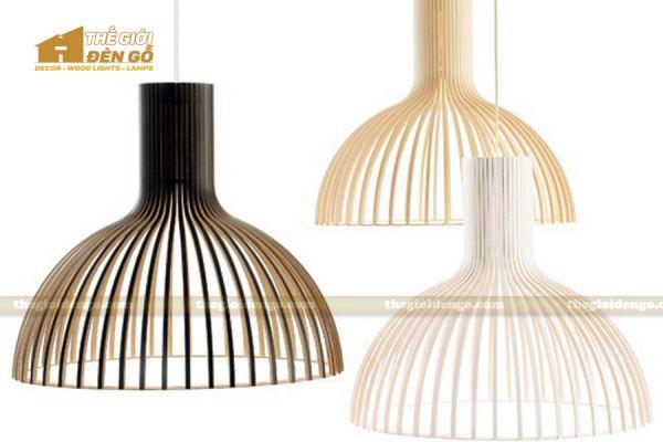 Thế giới đèn gỗ - Đèn gỗ trang trí bán cầu 2