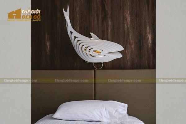 Thế Giới Đèn Gỗ - Đèn gỗ trang trí cá voi 2