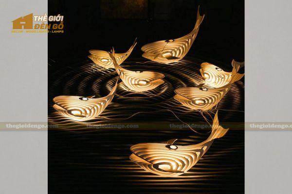 Thế Giới Đèn Gỗ - Đèn gỗ trang trí cá voi 4