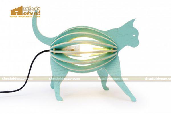 Thế Giới Đèn Gỗ - Đèn gỗ trang trí con mèo 1