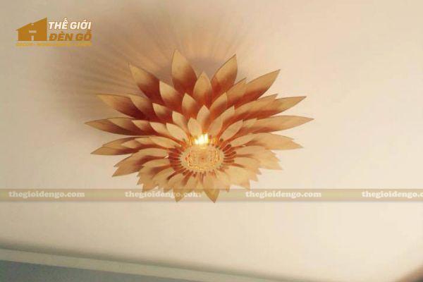 Thế giới đèn gỗ - Đèn gỗ trang trí hoa hướng dương 8