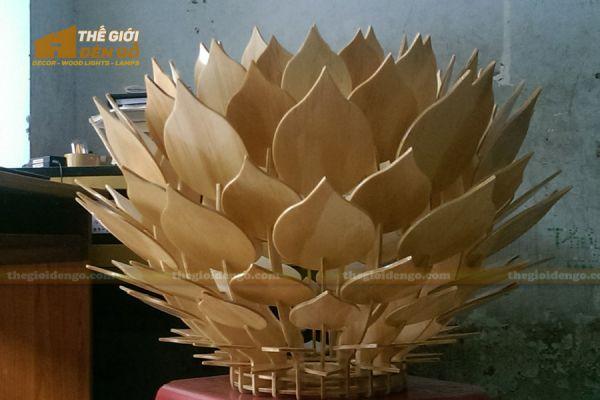 Thế Giới Đèn Gỗ - Đèn gỗ trang trí hoa thược dược 5