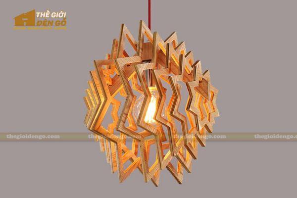 Thế giới đèn gỗ - Đèn gỗ trang trí ngôi sao 1