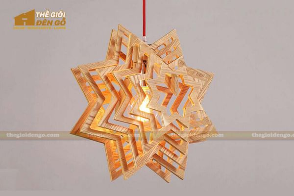 Thế giới đèn gỗ - Đèn gỗ trang trí ngôi sao 2