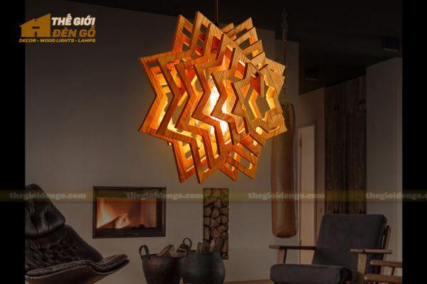 Thế giới đèn gỗ - Đèn gỗ trang trí ngôi sao 3