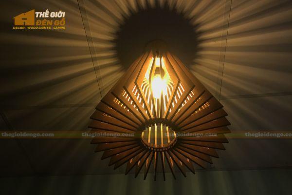 Thế giới đèn gỗ - Đèn gỗ trang trí nón trụ 11