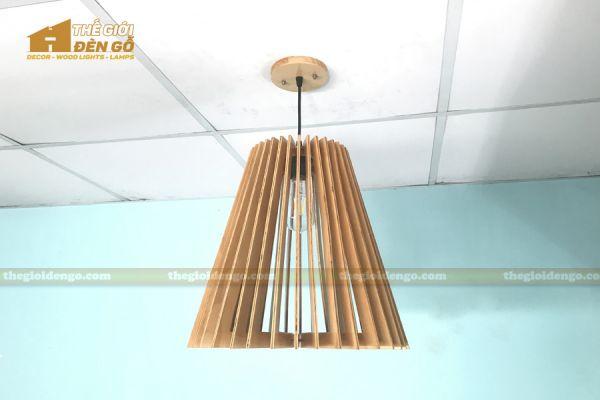 Thế giới đèn gỗ - Đèn gỗ trang trí nón trụ 8