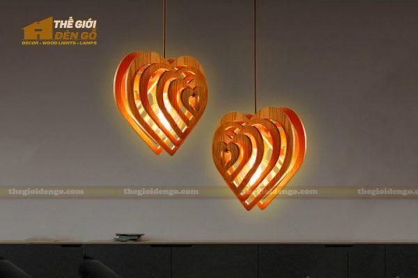 Thế giới đèn gỗ - Đèn gỗ trang trí trái tim 2