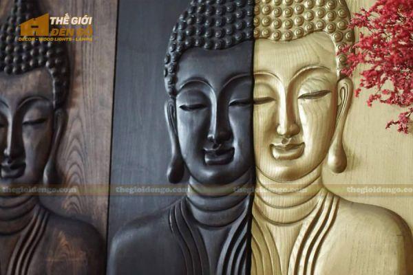 Thế Giới Đèn Gỗ - Tranh gỗ Đức Phật