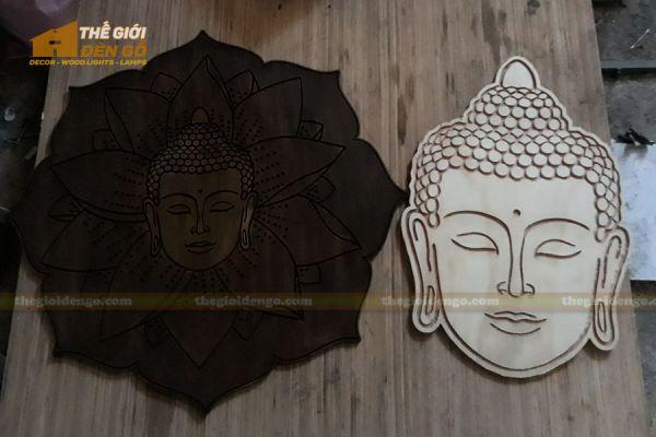 Thế Giới Đèn Gỗ - Tranh gỗ Đức Phật hoa sen 3