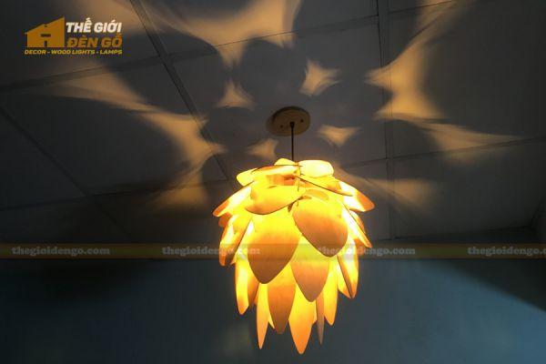 Thế Giới Đèn Gỗ - Đèn gỗ trang trí dg247 - 2