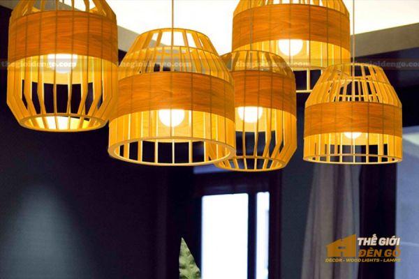 Thế giới đèn gỗ - Đèn gỗ trang trí trống cơm 3