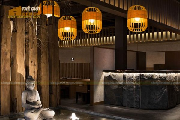 Thế giới đèn gỗ - Đèn gỗ trang trí trống cơm 5