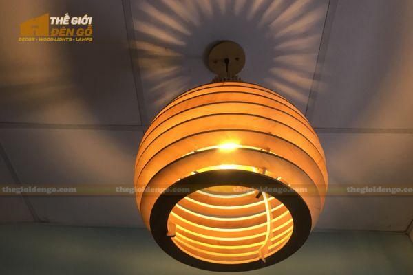 Thế Giới Đèn Gỗ - Đèn gỗ trang trí DG296 - 3
