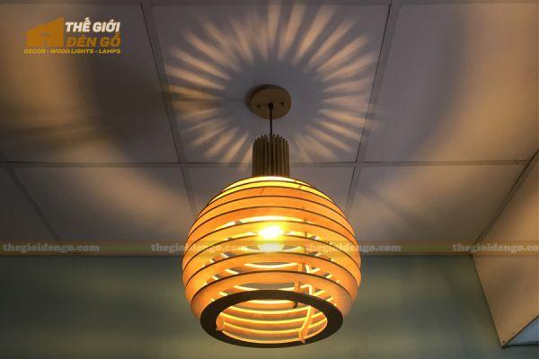 Thế Giới Đèn Gỗ - Đèn gỗ trang trí DG296