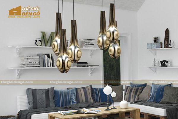 Thế Giới Đèn Gỗ - Đèn gỗ trang trí DG298-3