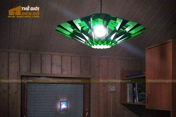 Thế Giới Đèn Gỗ - Đèn gỗ trang trí DG300-1