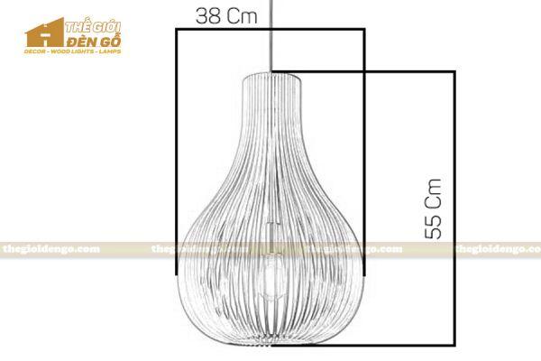 Thế Giới Đèn Gỗ - Đèn gỗ trang trí dg303 - 7