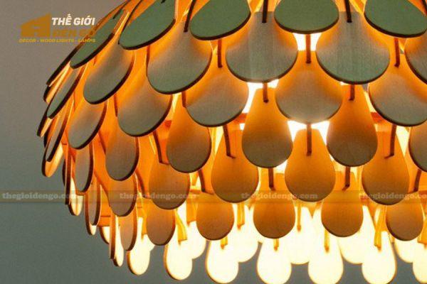 Thế Giới Đèn Gỗ - Đèn gỗ trang trí dg307 -3