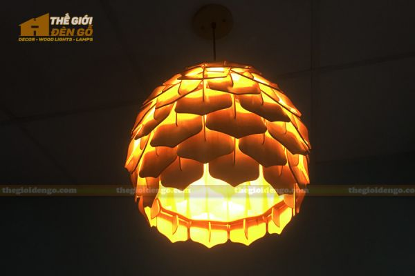 Thế Giới Đèn Gỗ - Đèn gỗ trang trí dg308 - 2