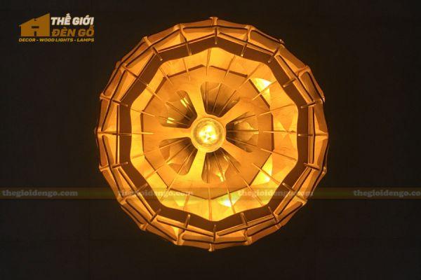 Thế Giới Đèn Gỗ - Đèn gỗ trang trí dg308 -3