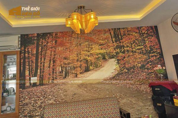 Thế Giới Đèn Gỗ - Đèn gỗ trang trí dg310 - 3