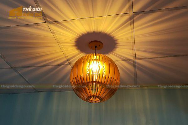 Thế Giới Đèn Gỗ - Đèn gỗ trang trí dg313 - 1