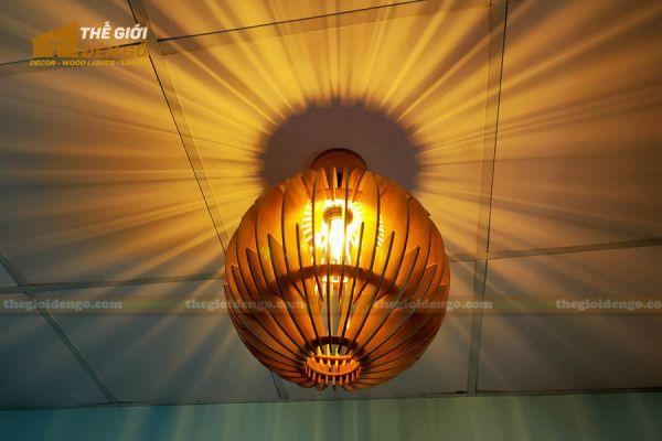 Thế Giới Đèn Gỗ - Đèn gỗ trang trí dg313 - 2