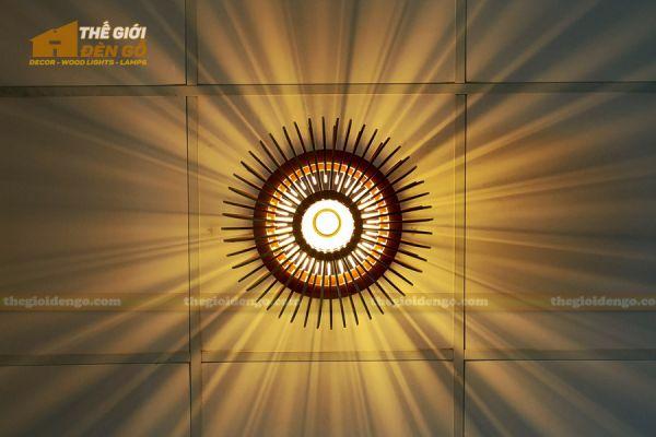 Thế Giới Đèn Gỗ - Đèn gỗ trang trí dg313 - 3